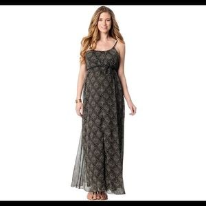 Jessica Simpson Maternity Printed Maxi Dress.